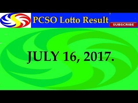 PCSO Lotto Result July 16, 2017 (6/58, 6/49, Swertres & EZ2) - http://LIFEWAYSVILLAGE.COM/lottery-lotto/pcso-lotto-result-july-16-2017-658-649-swertres-ez2/