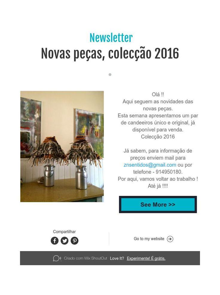Newsletter  Novas peças, colecção 2016