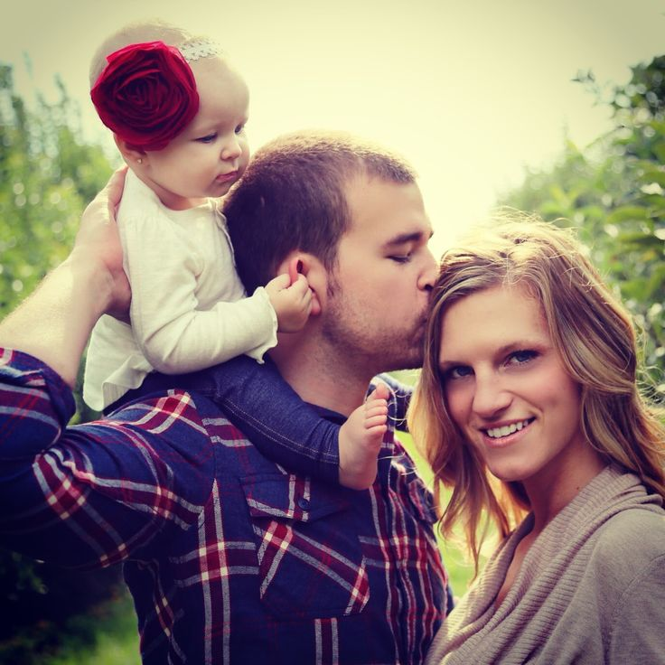 Fall family photography with baby