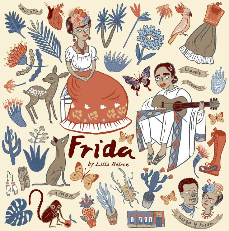 Frida Kahlo Bright PNG Clip Art Set by LillaBolecz on Etsy €8.89 #etsy #clipart #scrapbooking #scrapbook #creative #diy #illustration #art #frida #fridakahlo #mexico #printable #decoration #homedecor