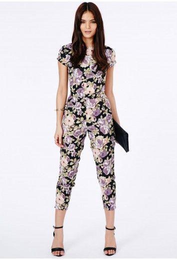 Janusa Floral Print Jumpsuit - Jumpsuits & Playsuits - Jumpsuits - Missguided