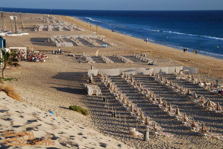 Widok z promenady na plażę Jandia