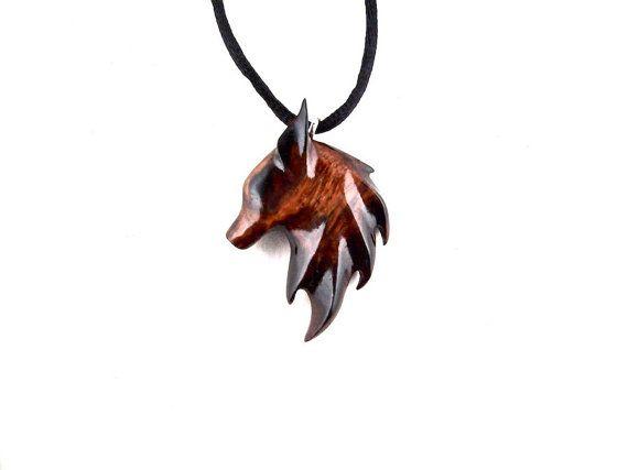 Fox Pendant Fox Necklace Fox Jewelry Wooden Fox by GatewayAlpha