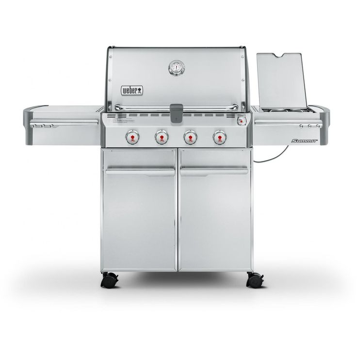 Weber Summit S-420 Freestanding Propane Gas Grill With Side Burner available at BBQ Guys. Summit Series gas BBQ grills are the crown...