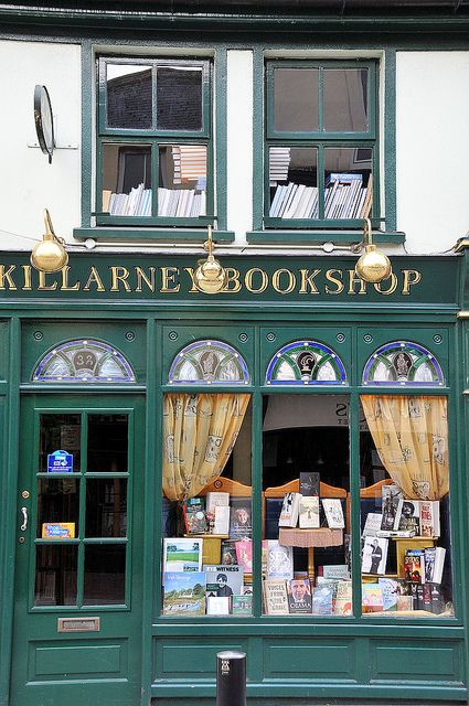 Killarney Bookshop in Killarney, Kerry, Ireland - I'm only repinning this because it has my name in it...