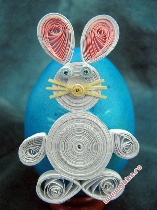 Quilled Easter Bunny | Paper Quilling | Elaine's Crafts