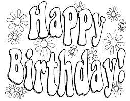 Risultati immagini per disegni da colorare buon compleanno