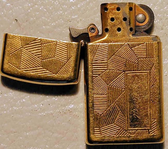"""zippo lighters collectibles   Zippo gold 1994 Lighter engraved """"Cheryl"""""""