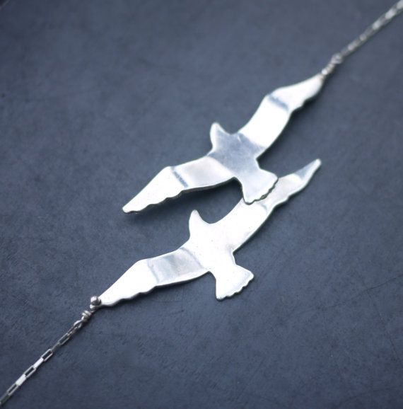 Sterling Silver Seagullls by sophiesimone on Etsy, $95.00