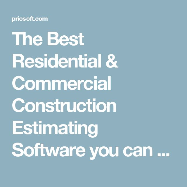 Best 25+ Construction estimating software ideas on Pinterest