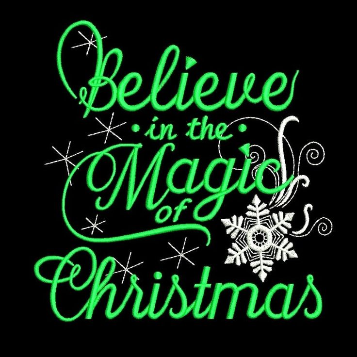 Believe in the Magic of Christmas machine embroidery design sayings designs digital instant download holiday pattern in the hoop file
