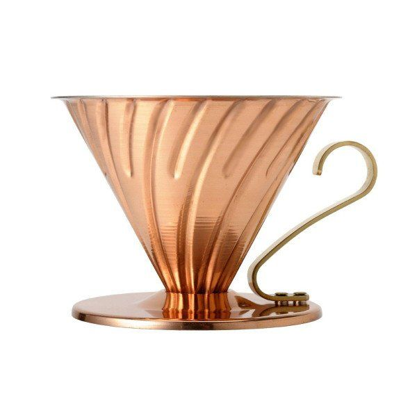 This special edition of the Hario V60 Coffee Dripper is made from brilliant copper with a nickel-plated interior for great brewing with great style