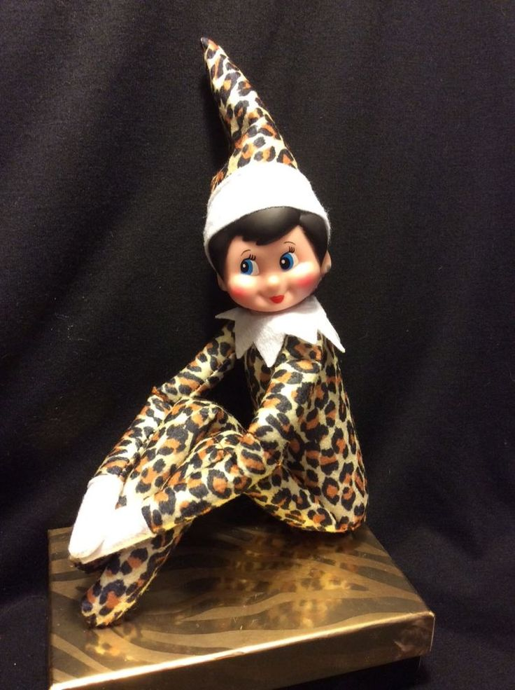 Leopard girl Elf on the shelf Elf, Christmas elf, Girl elf
