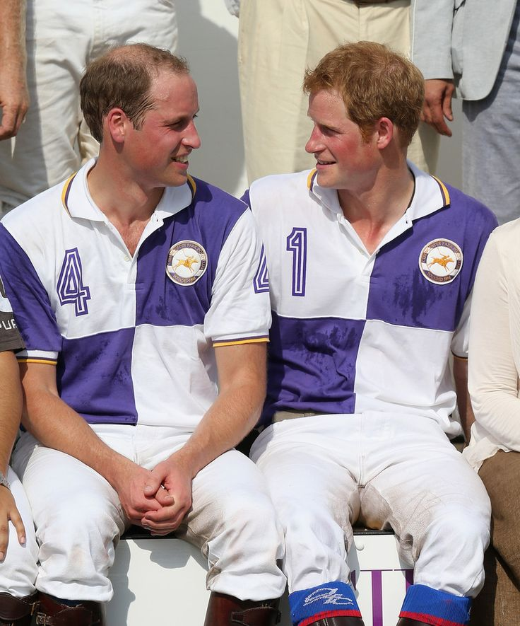Prince William, Duke of Cambridge and Prince Harry smile after the Jerudong Trophy at Cirencester Park Polo Club on 14 July 2013 in Cirencester, England.