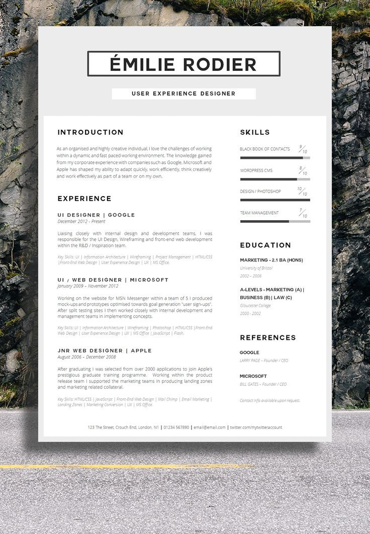 Best Resume Images On   Cv Template Resume Ideas