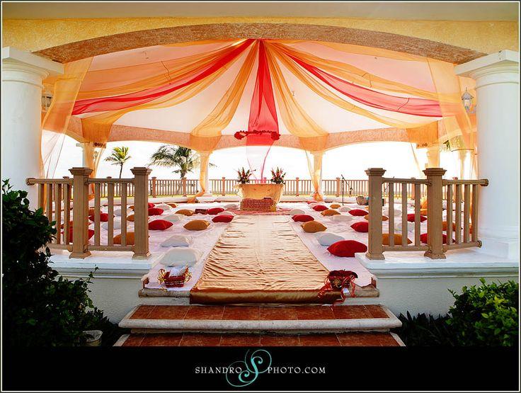Outdoor sikh wedding #indian #cancun #beach