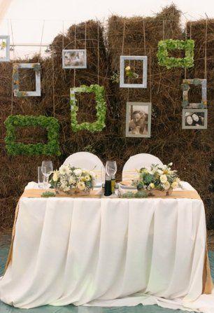 Рамки в декоре свадебного стола молодожен