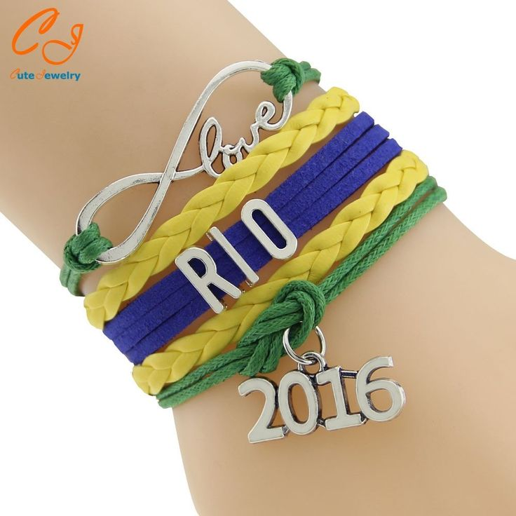 The 2016 #Rio de Janeiro #Olympic Games Team #Bracelet Sports Lover #Fans US Flag Bracelet Drop Shipping Crazy Fans Jewelry Death Or Designer Collection  #watches #Fashion #FashionWeek #FashionOnline #DeathOrDesigner #Dresses #Accessories #Jewelry #Beauty