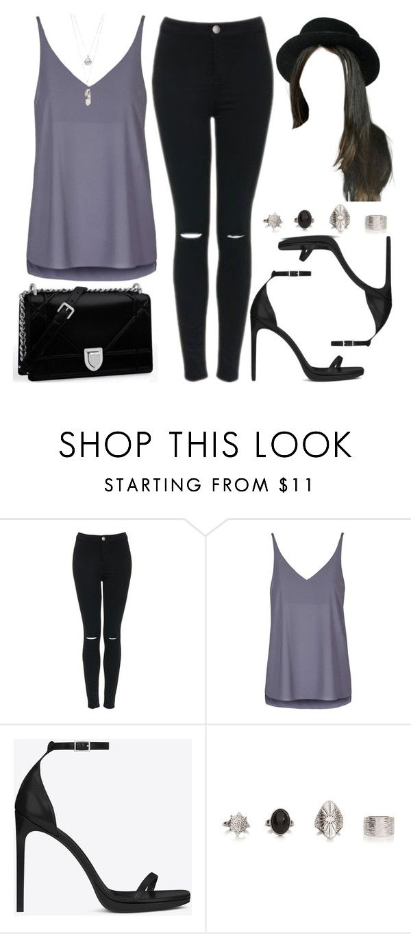 """""""Style  #10714"""" by vany-alvarado ❤ liked on Polyvore featuring Topshop, Yves Saint Laurent and Gypsy Warrior"""
