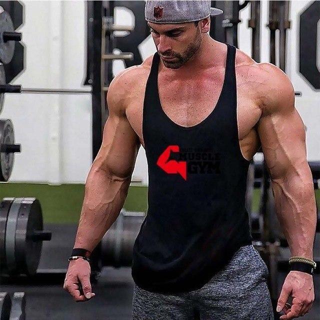 Para hombre Muscle Gym Stringer Tank Top para culturismo