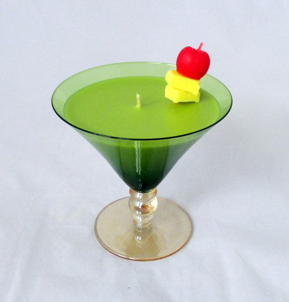 Ginger Appletini Candle martini candle apple by NorthernLitesGifts