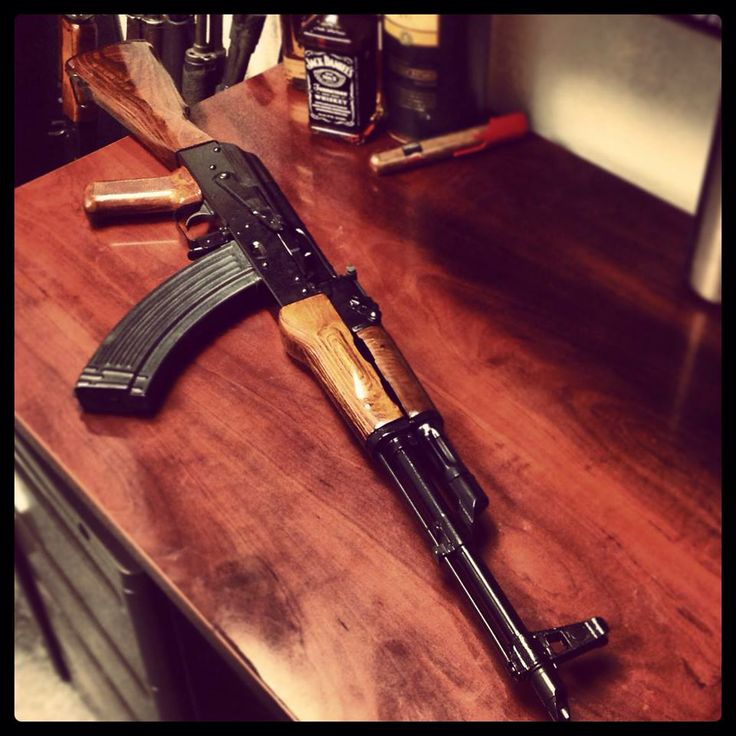 Rifle Dynamics / Classic AKM rifle with high polished wood furniture and  black semi-gloss
