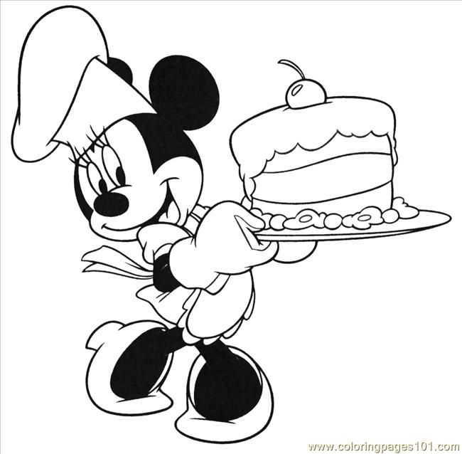free printable birthday coloring pages birthday cake cartoons mickey mouse