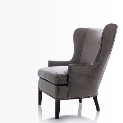 Dylan Wingback Chair - Oh yeah!  This is the perfect blend of traditional and contemporary chic! (In a chair.)
