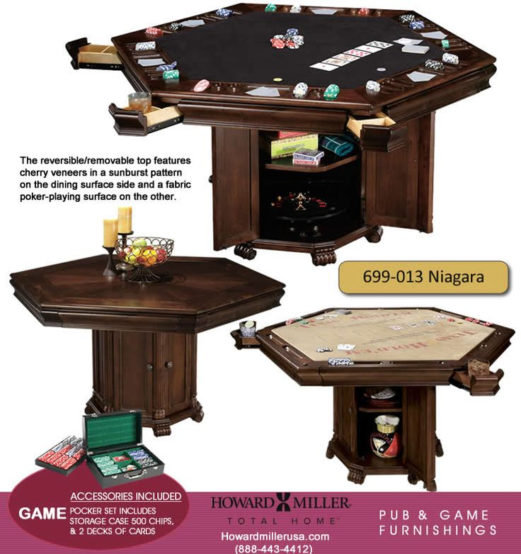 Howard Miller Pub & poker cherry Game Table Furnishings 699013 Niagara