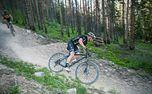 Mountain bike on professional tracks - Medium - Beautiful mountain bake track in the forrest.