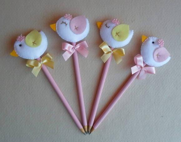 Ponteiras de lápis Passarinhos | Sonho e Arte | 1A06BF - Elo7