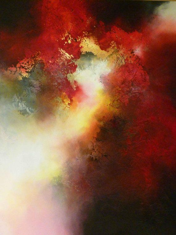 Grande tela astratta di Simon Kenny di SimonkennysPaintings