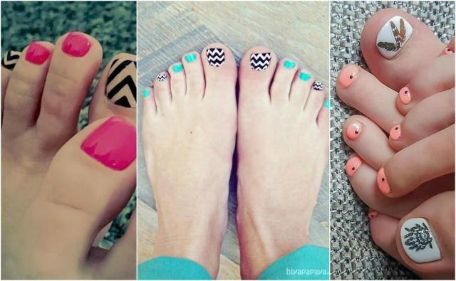Gorące kolorki na pomalowanie paznokci u stóp