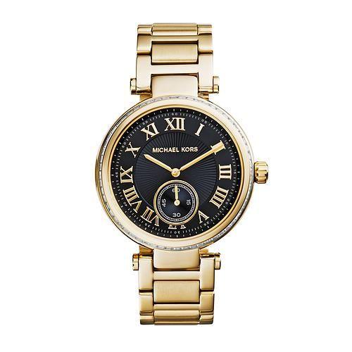 Michael Kors fondo negro, reloj para mujer