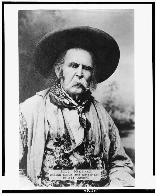 Bill Drennan, Indian scout and companion of Kit Carson 1870-1890