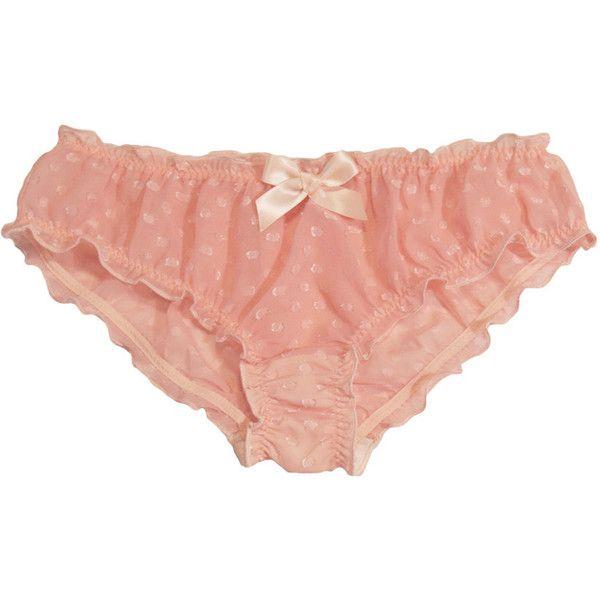 Sheer Pink Polka Dot Panties ($60) ❤ liked on Polyvore featuring intimates, panties, underwear, bottoms, lingerie, undies, polka dot panties, lingerie panty, pink panties and scrunch panties
