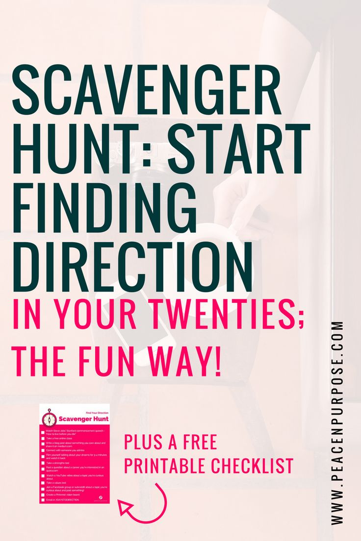 17 best ideas about a career career help scavenger hunt direction in your twenties the fun way