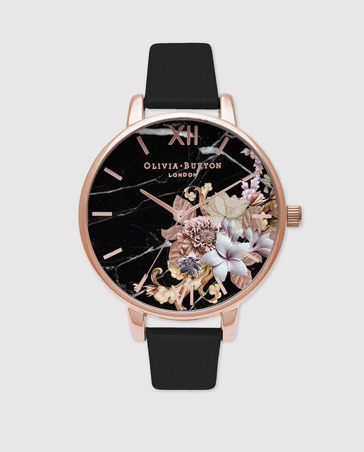 aa0d47756799 Reloj de mujer Olivia Burton OB16CS01 de piel negro