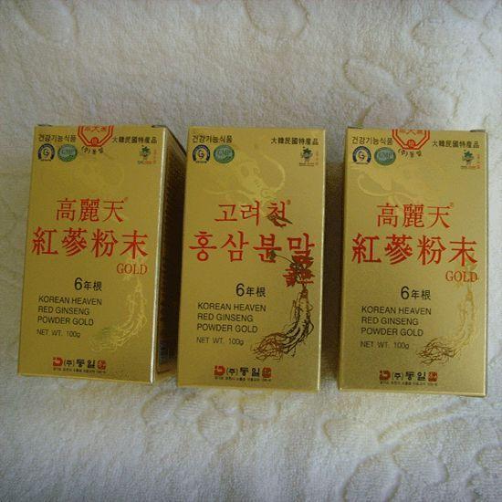 6-YEAR KOREAN HEAVEN RED GINSENG POWDER GOLD(100g*3Bottles) / Boost  immunity  ! #KOREANHEAVENREDGINSENG