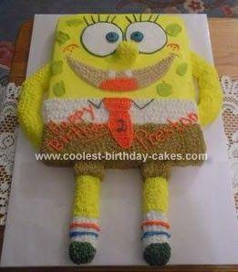 Pin Coolest Homemade Spongebob Birthday Cake Photos Cake On Pinterest. Coolest Spongebob Birthday Cake 242. The Cake Station. Sponge Bob Cak...