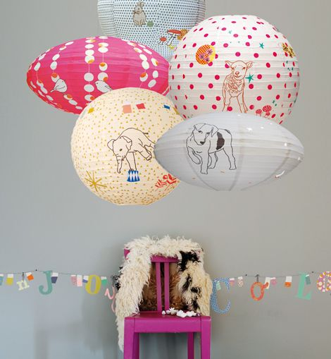 lanterns: French Home Decor, French Paper, Paper Lanterns, Cute Things, French Homes, Colour Lanterns Kids Rooms, Design Blogs, New Mom, Girls Rooms
