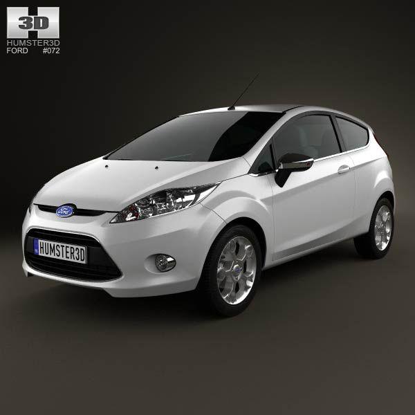 Ford Fiesta hatchback 3-door (EU) 2012 3d model from humster3d.com. Price: $75