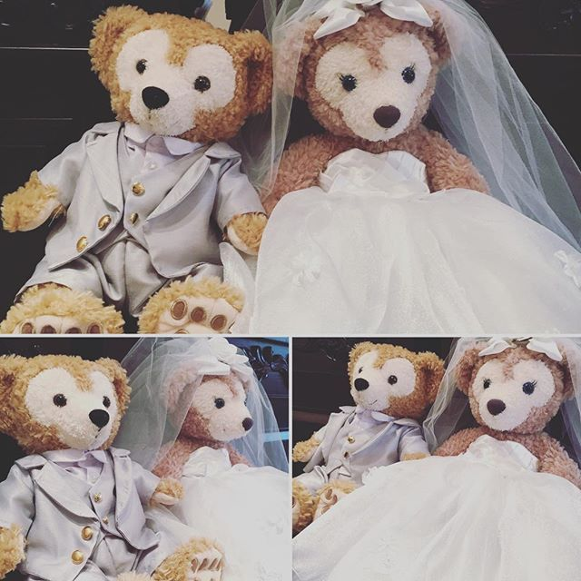 ダッフィーちゃんの衣装ご注文いただきましたありがとうございます  ずっと思い出に残るように…花嫁さんと同じデザインでつくらせていただきました  #happywedding ♥ #ダッフィーウエディング  #オーダーメイド  #花嫁ドレスと同じデザイン  #ハンドメイド