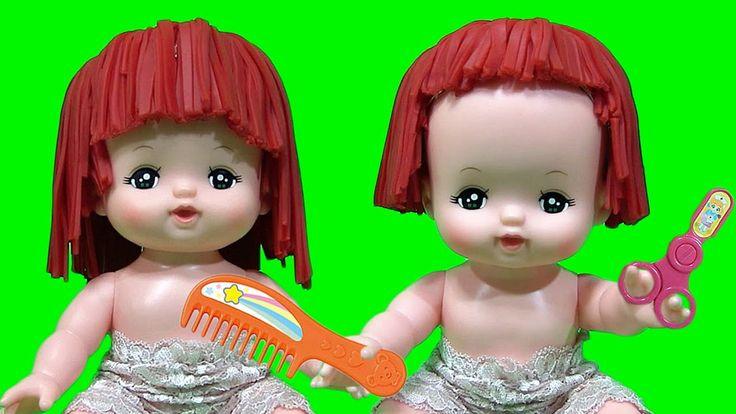 play doh メルちゃん びようしつ ごっこ で 前髪切りすぎた:メルちゃん おもちゃ ねんど プレイドー :Baby Doll toy H...