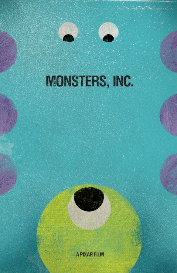 Day #20: Your least favorite Pixar film: Monster's Inc. This was a tough one because I don't dislike any of their films.