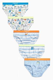 Transport Briefs Five Pack (1,5-8 ans)