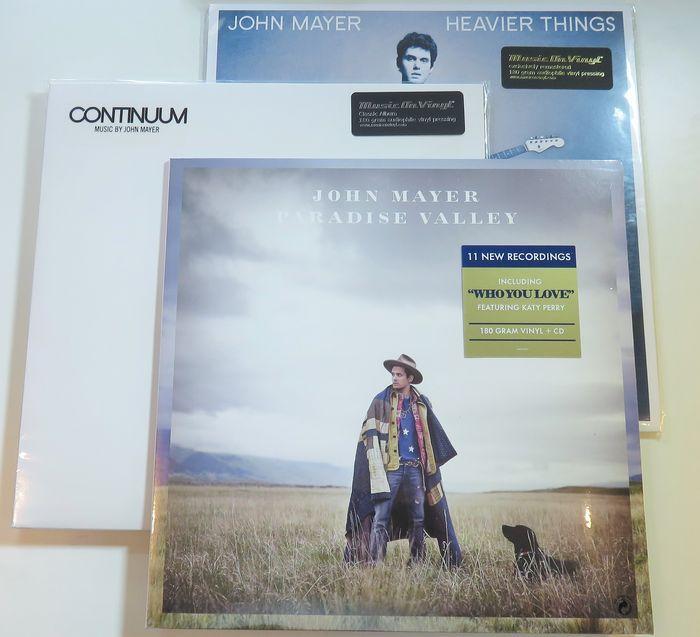 Online veilinghuis Catawiki: John Mayer - Great lot of 3x album on 180 gram (4LP's) + CD: Paradise Valley / Heavier ThIngs / Continuum