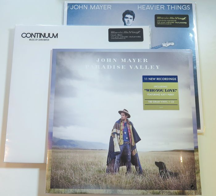 Online veilinghuis Catawiki: John Mayer - Great lot of 3x album on 180 gram (4LP's) + CD: Paradise Valley / Heavier ThIngs / Continuum