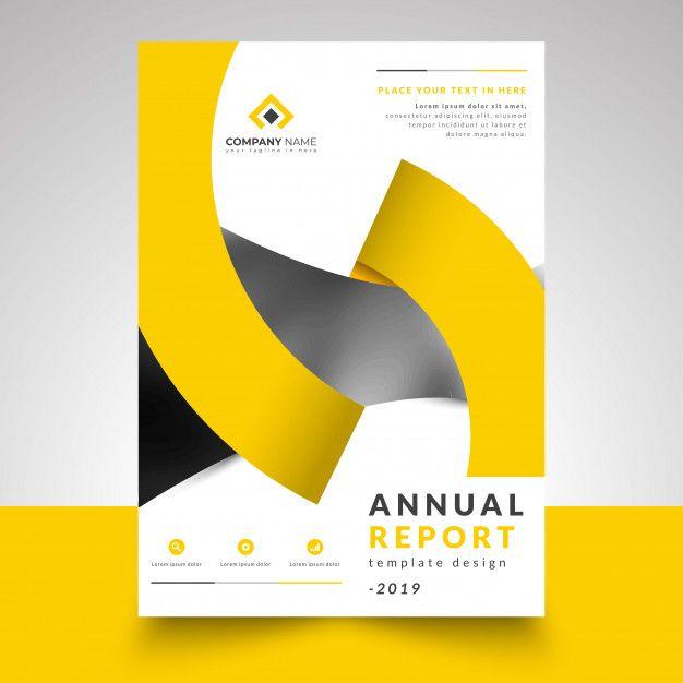 Annual Report Template With Creative Design Ribbon Grafis Ide