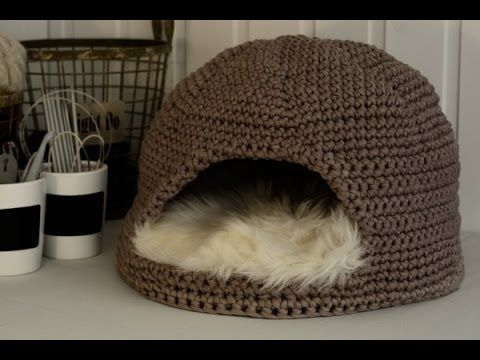 How to make A Cute Crochet House For A Cat By crochettoys